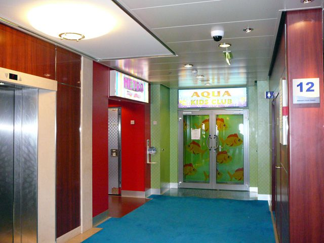 The entrance to the kids and teens facilities on the Norwegian Pearl.