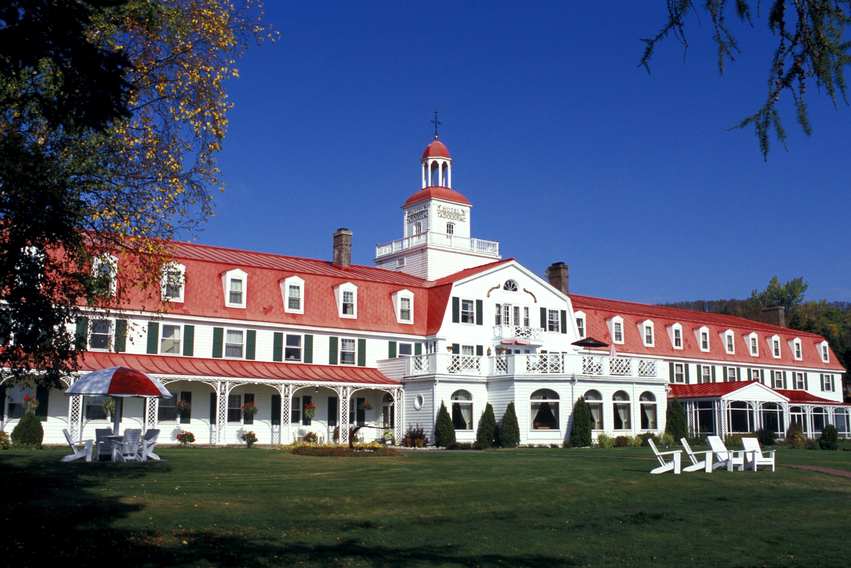 Tadoussac Hotel in Autumn, Tadoussac Village, Cote-Nord, Quebec