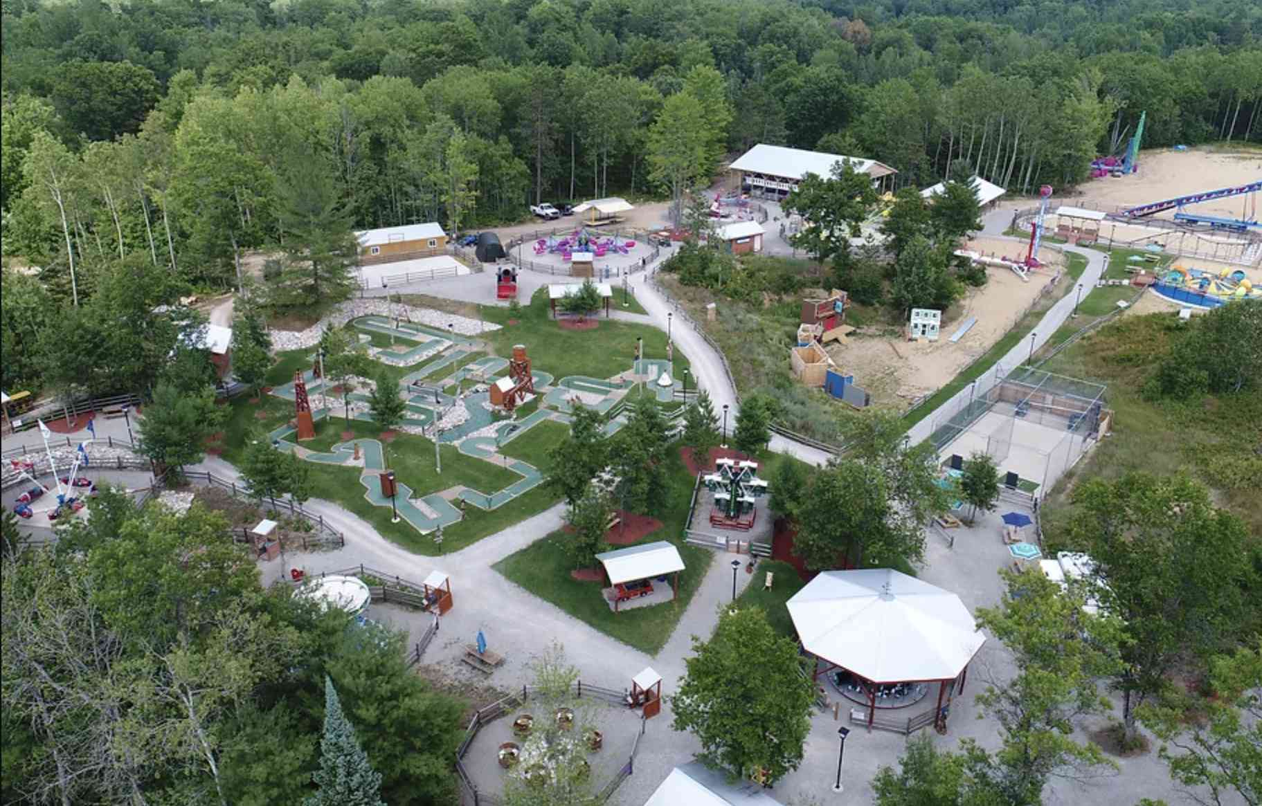 Wild Frontier Fun Park in Comins, Michigan