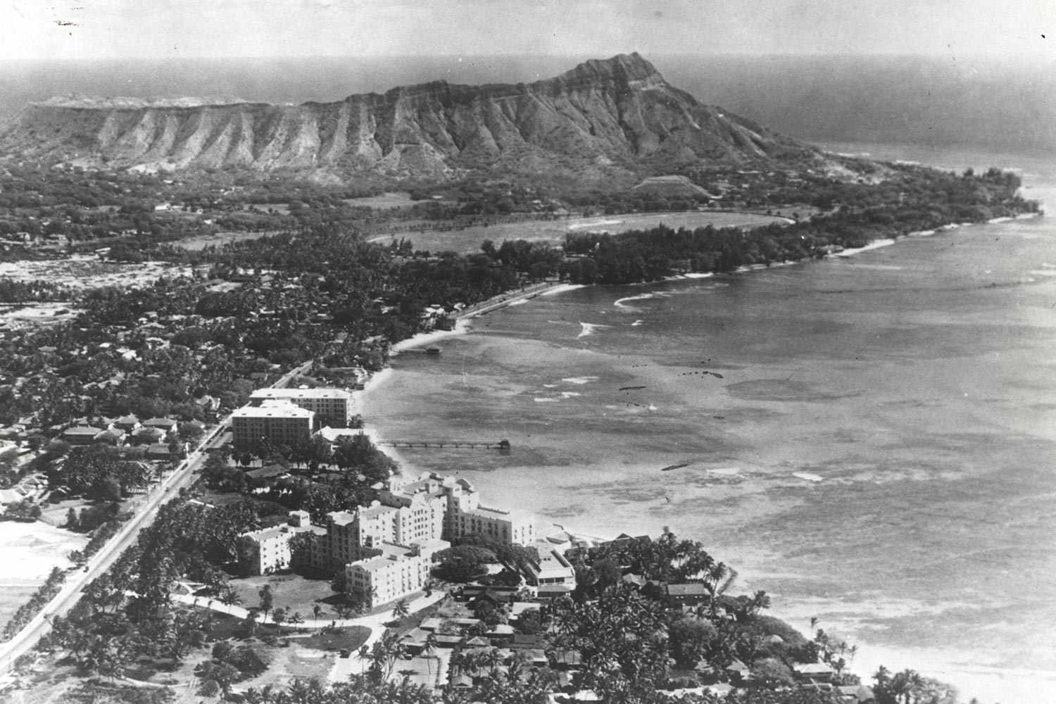 aerial view of royal hawaiian pre-WWII
