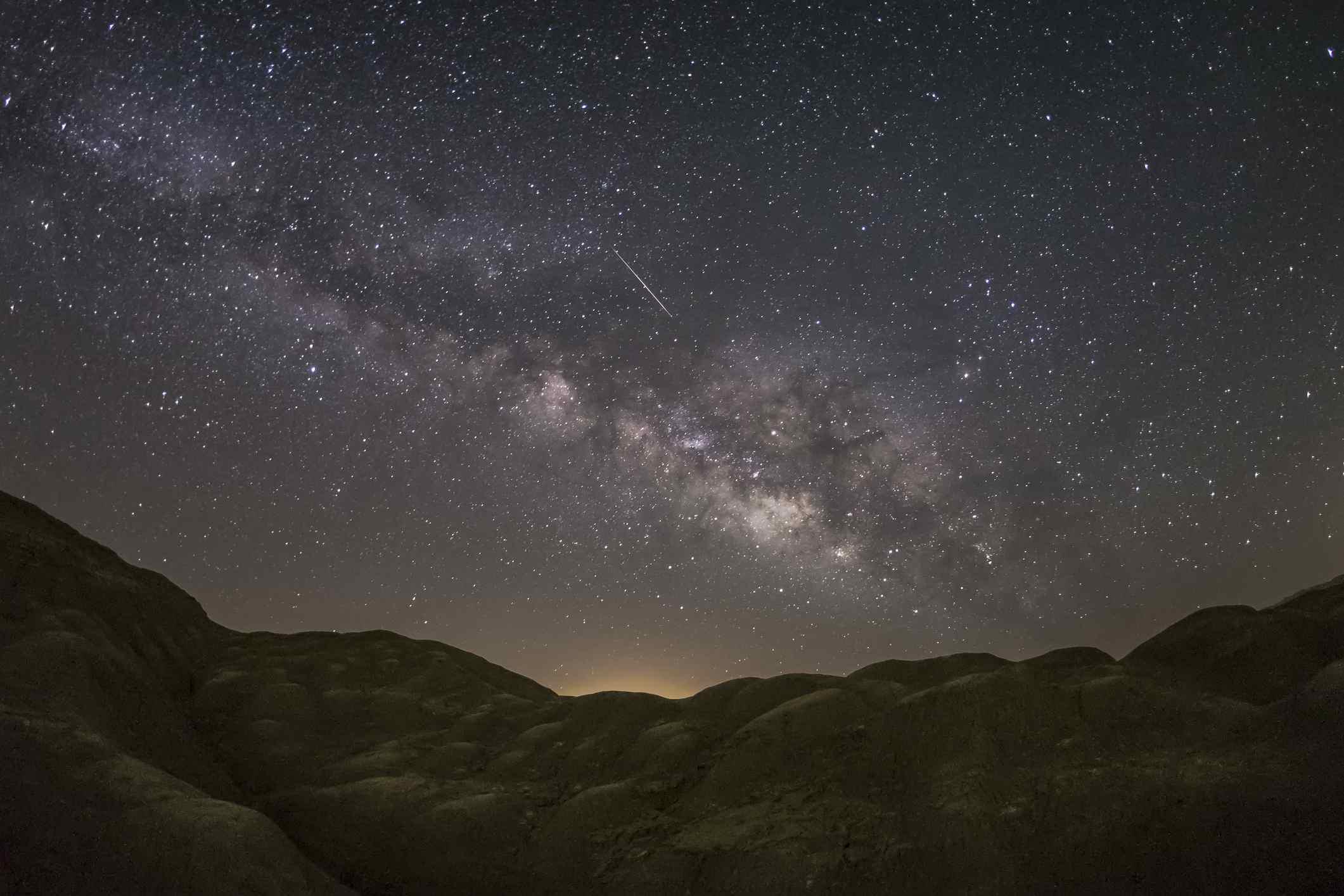 Night sky in the Anza-Borrego Desert in California.