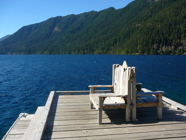 Inviting Dock in front of Lake Crescent Lodge