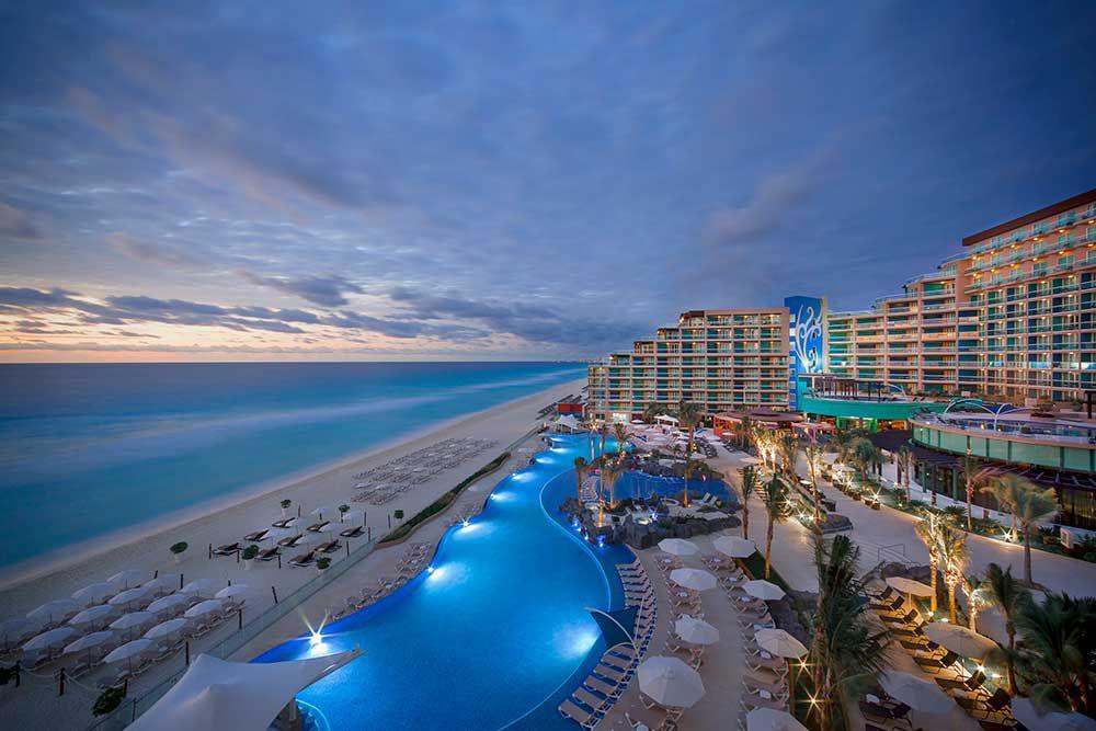 Sunset at the Hard Rock Hotel Cancun