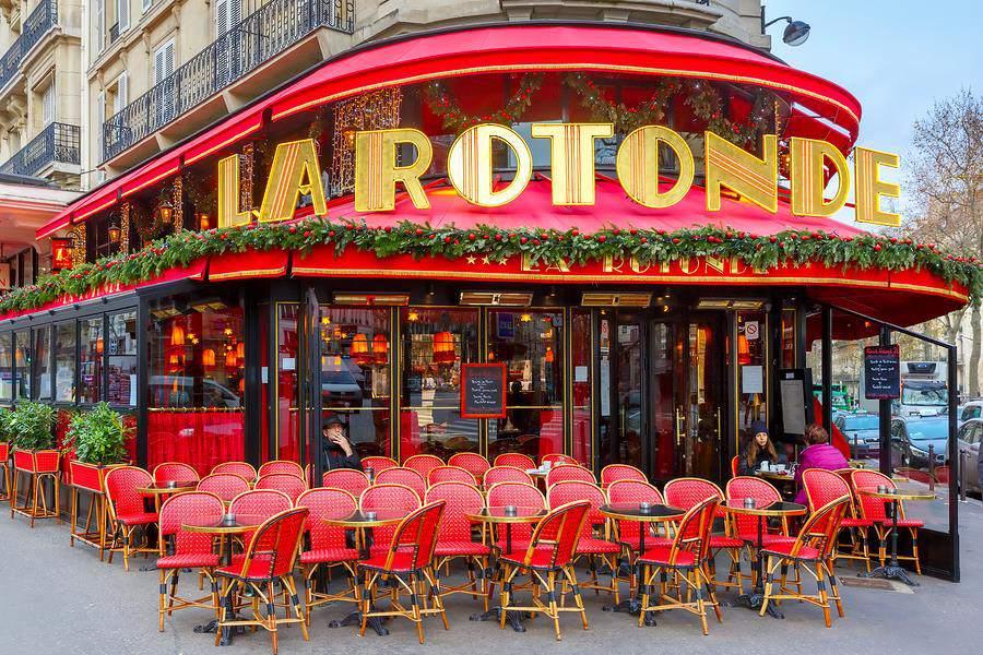 La Rotonde is a legendary cafe-brasserie in Paris' Montparnasse district.