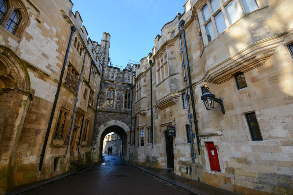 Inner pathways inside Windsor Castle