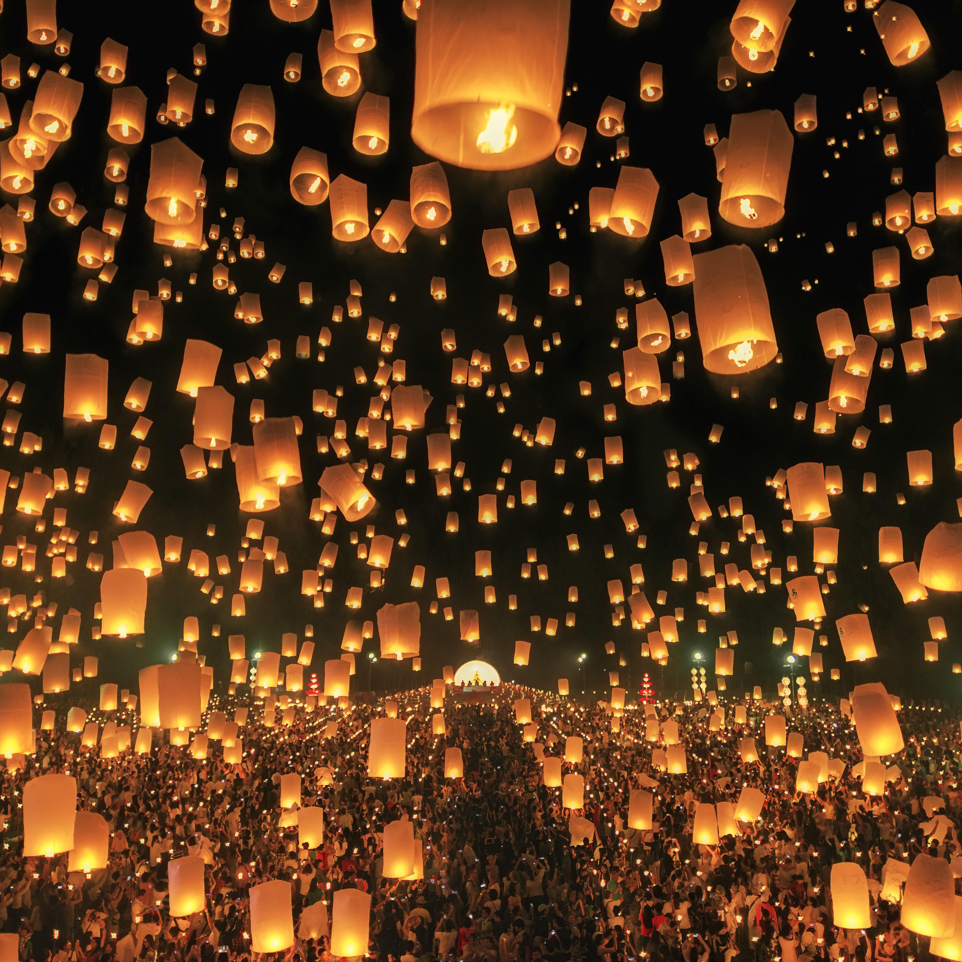 The Loi Krathong Festival In Thailand