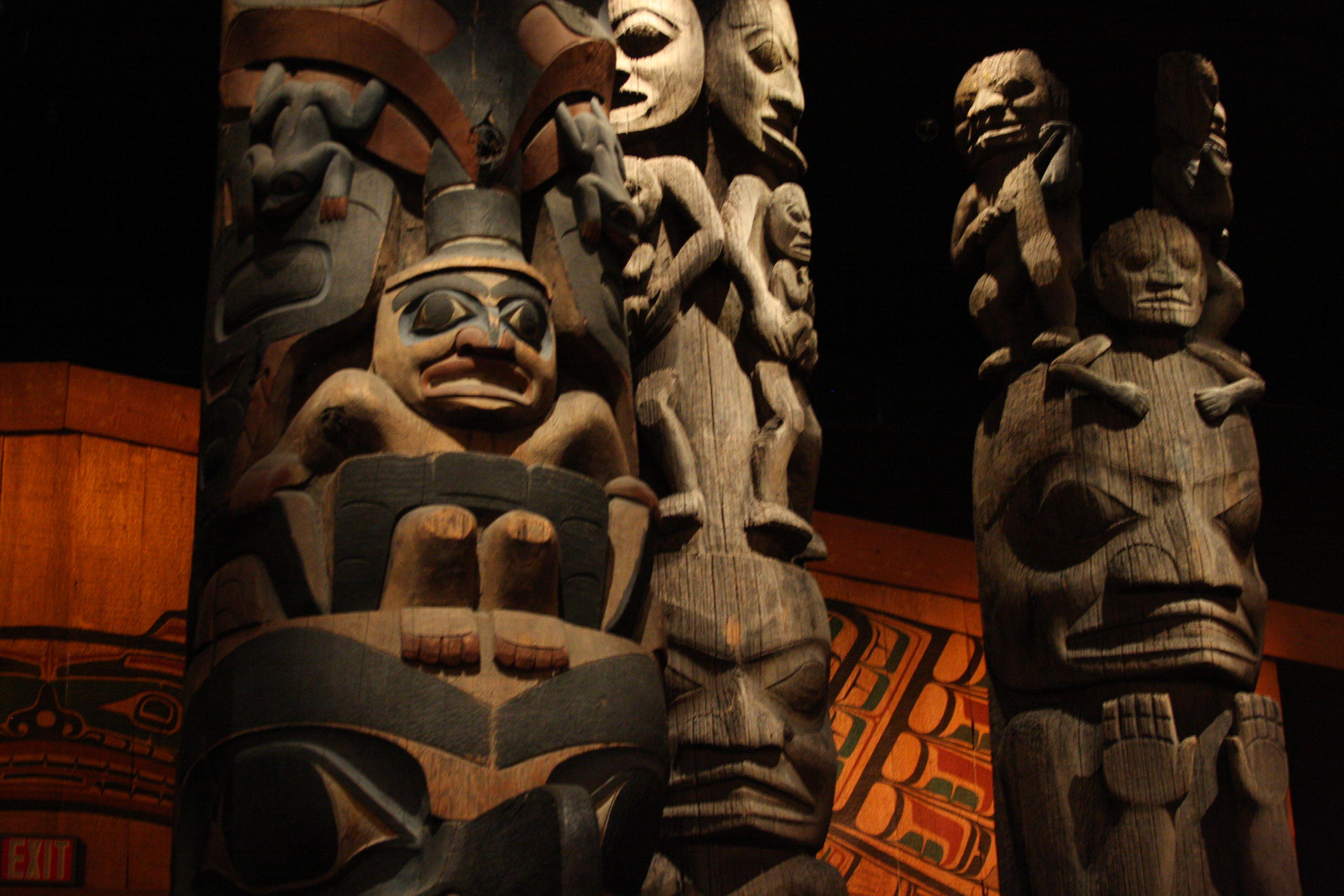 Hall of Totems at the Royal British Columbia Museum, Victoria, BC