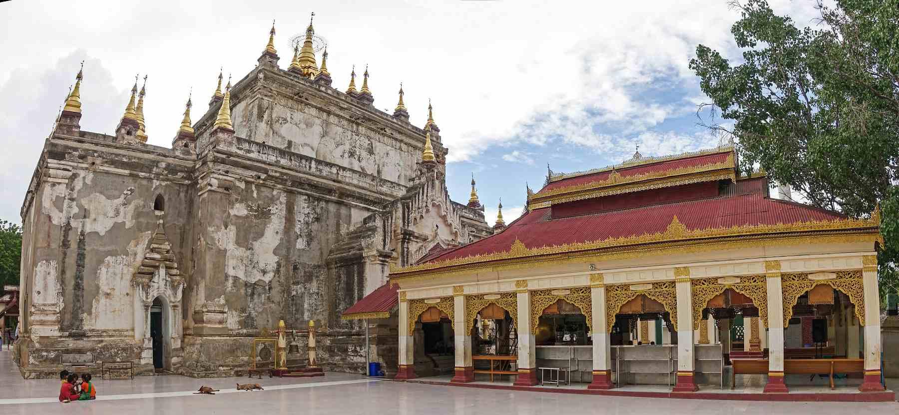 Exterior of Manuha Temple, Bagan, Myanmar