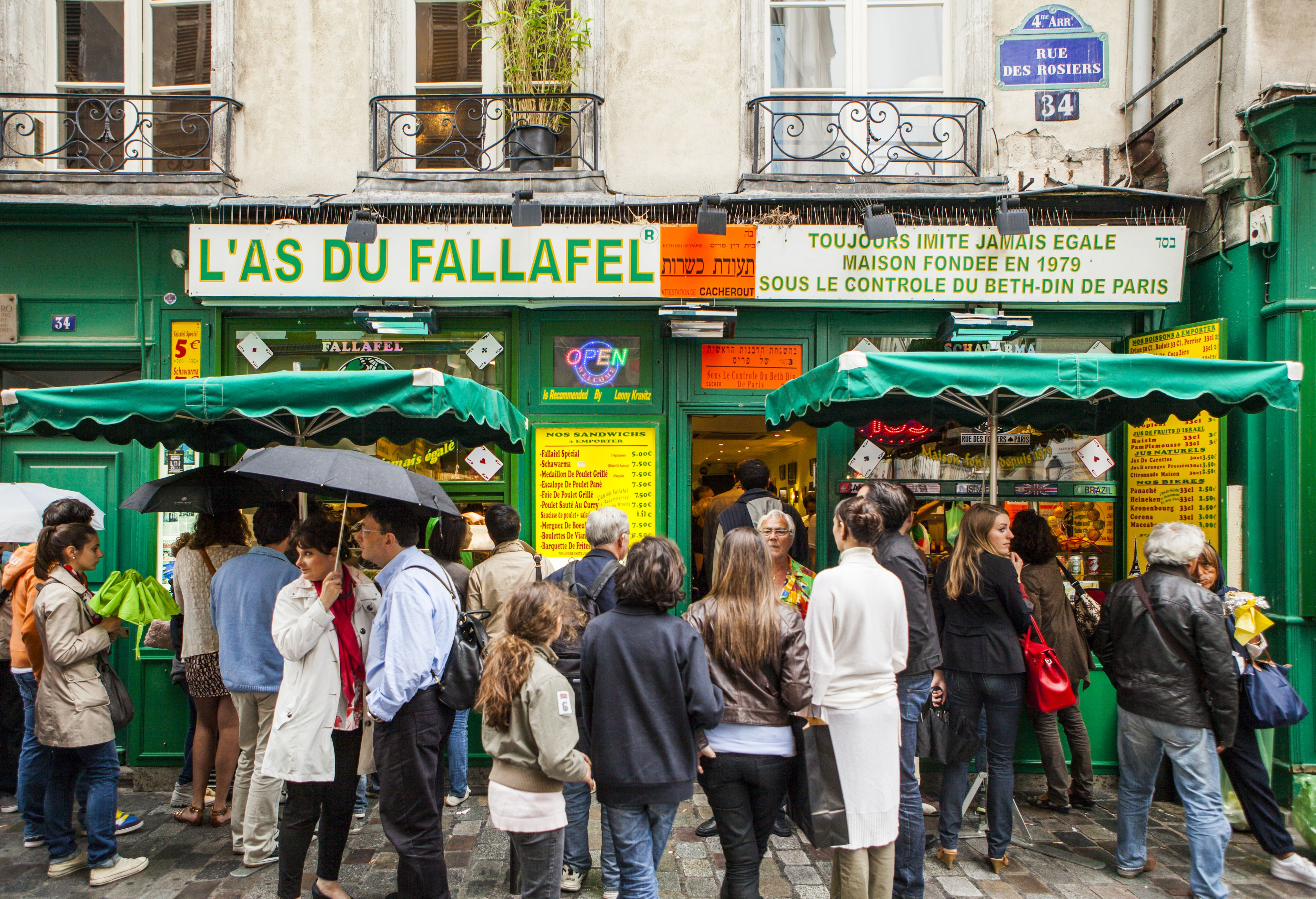 Falafel Shop in the Marais, Paris, France
