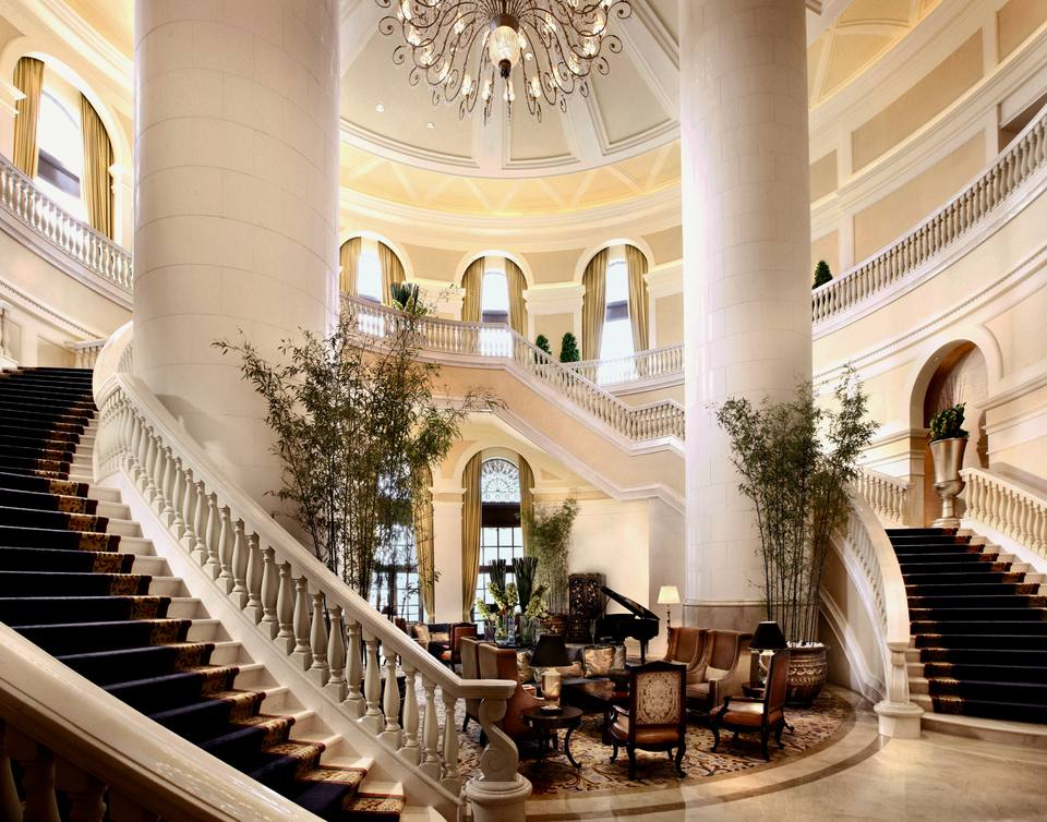 Lobby of Four Seasons Macau luxury hotel