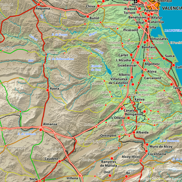 Map of Spain s Cities and Regions