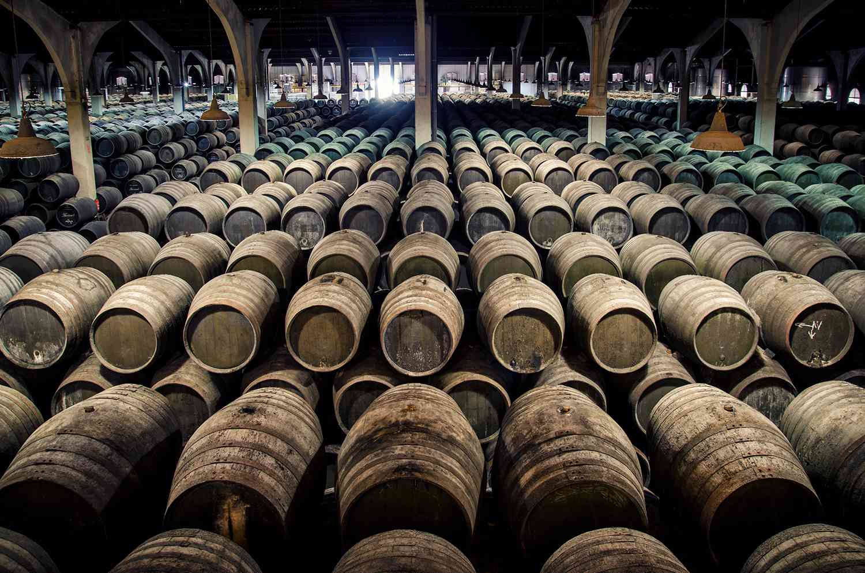 Barrels of sherry