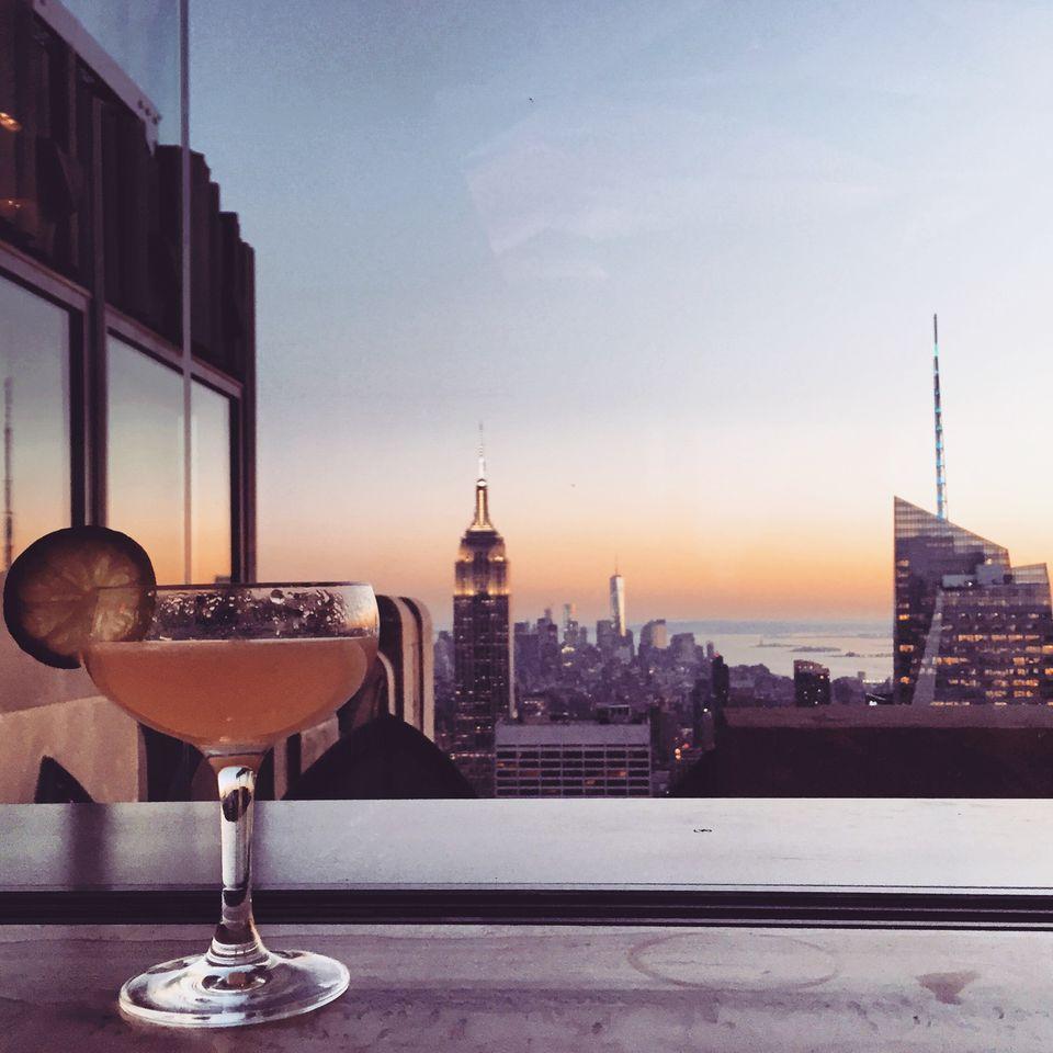 NYC skyline cocktail
