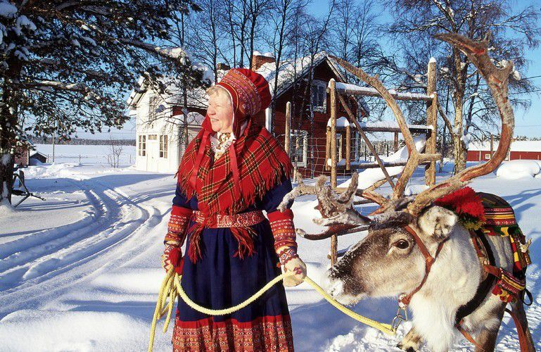 Reindeer Owner in Lapland, Finland