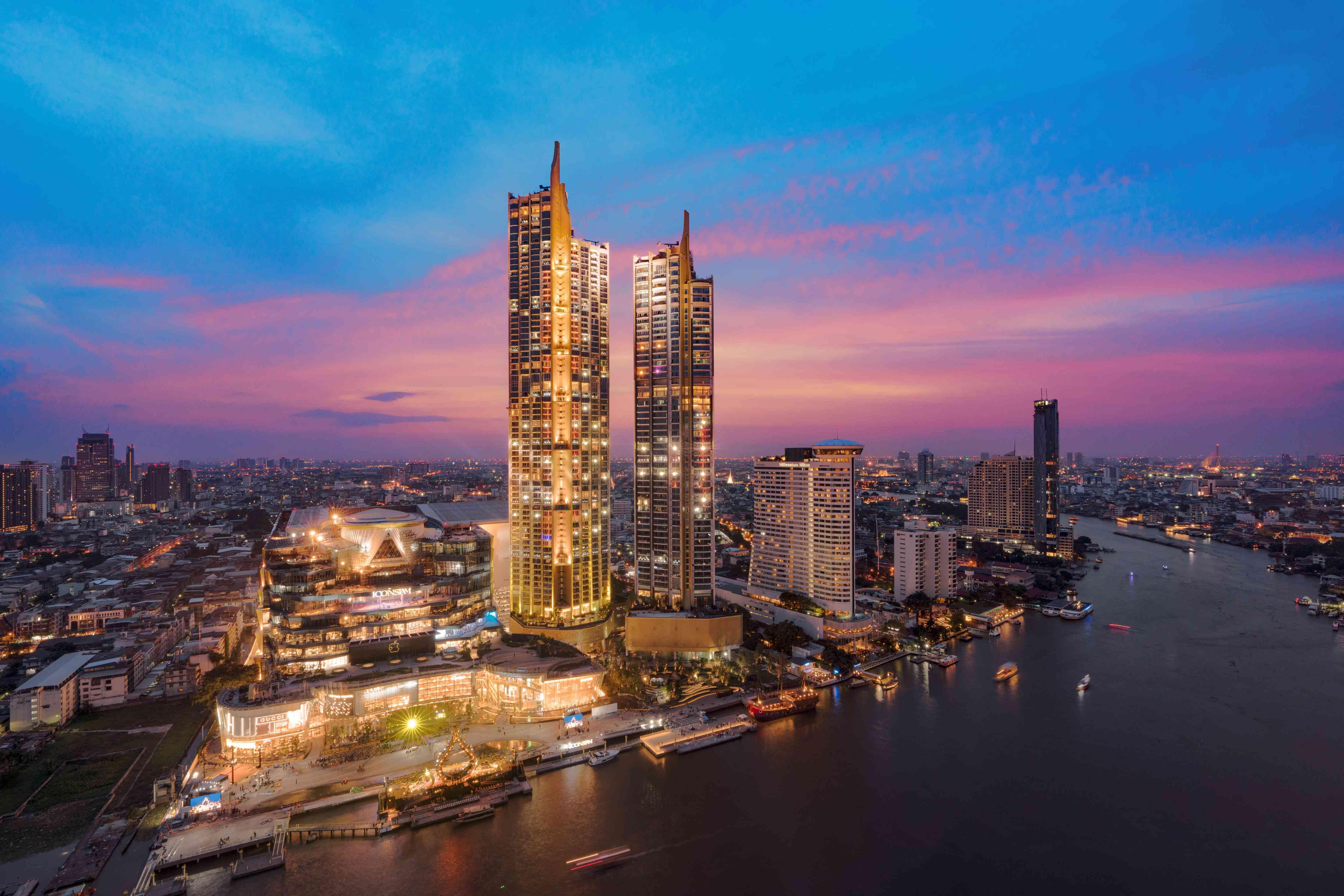 IconSIAM in Bangkok at sunset