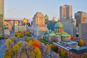 Place du Canada and Dorchester Square, Cathedral-Basilica of Mary, Montreal
