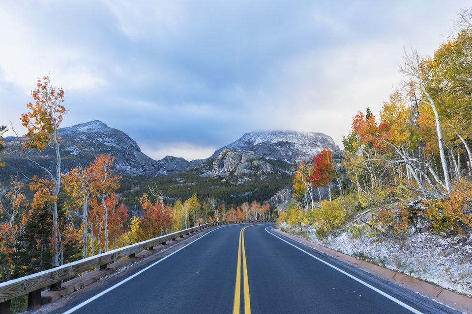 Colorado, Boulder, Colorado, Parque Nacional de las Montañas Rocosas, Bear Lake Road, Indian Summer