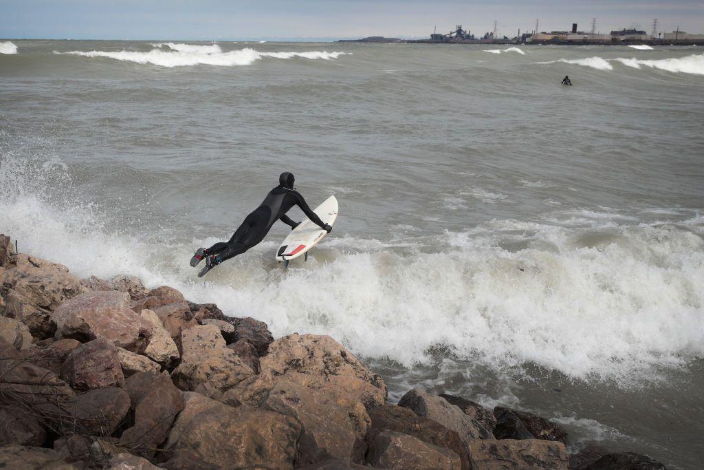 Surfing Duluth, Minnesota