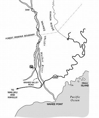 "Map of the Waihe'e Valley Trail - ""Swing"