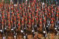 Indian military forces march during Republic Day Parade.