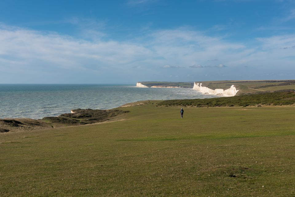 South Downs and Seven Sisters Cliffs, East Sussex, UK