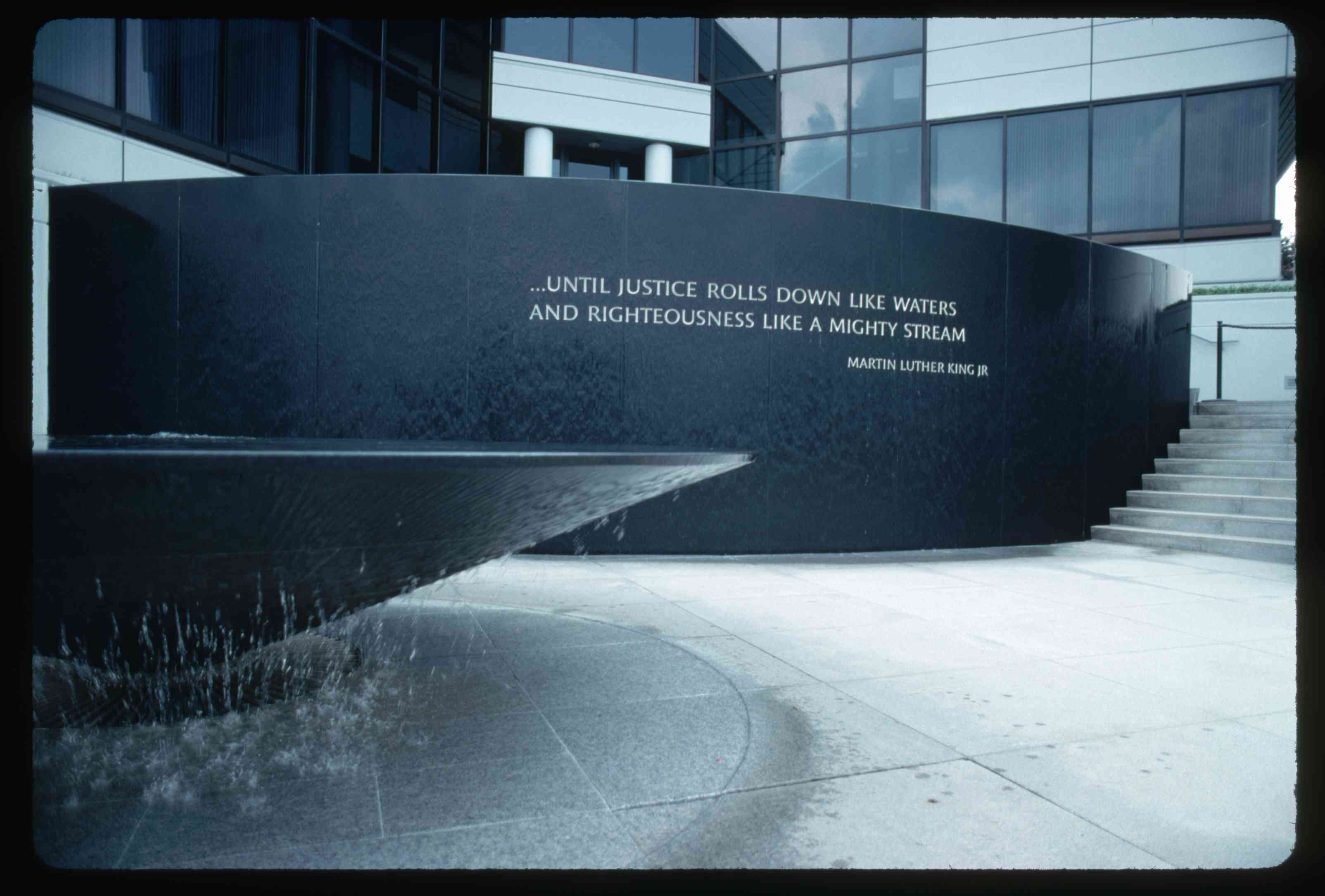 The Civil Rights Memorial in Montgomery, Alabama.