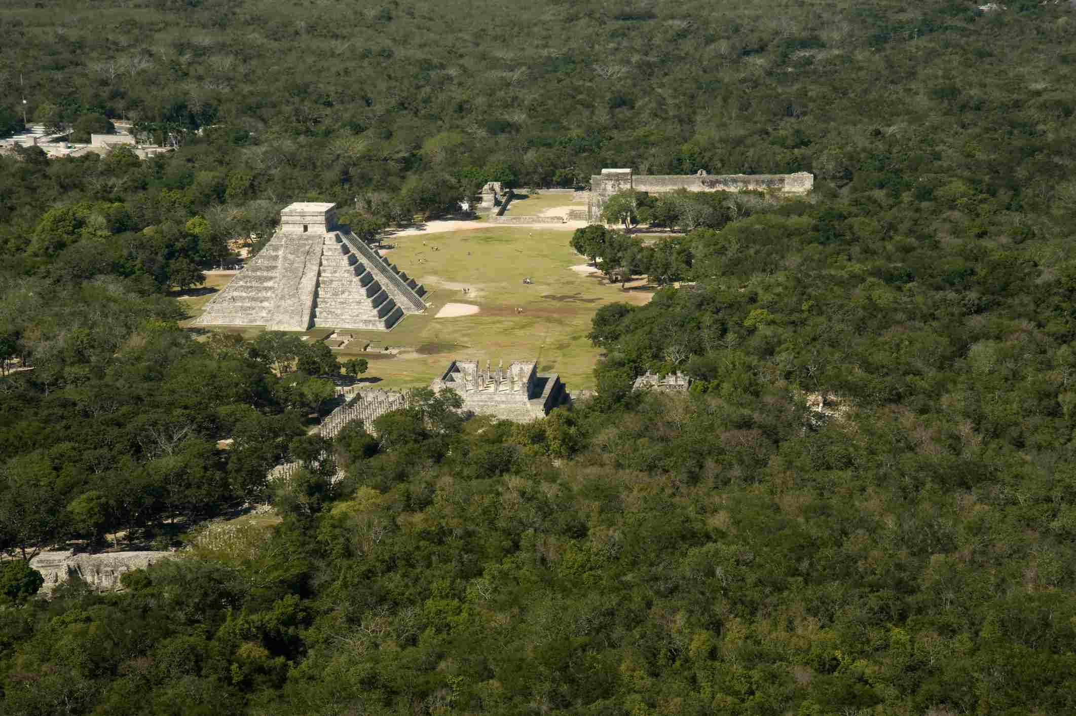 Aerial view of Chichén Itzá