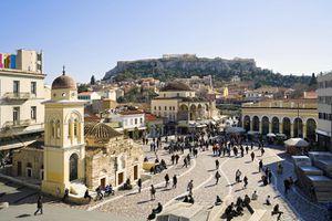 Monastiraki Square, Athens, Greece
