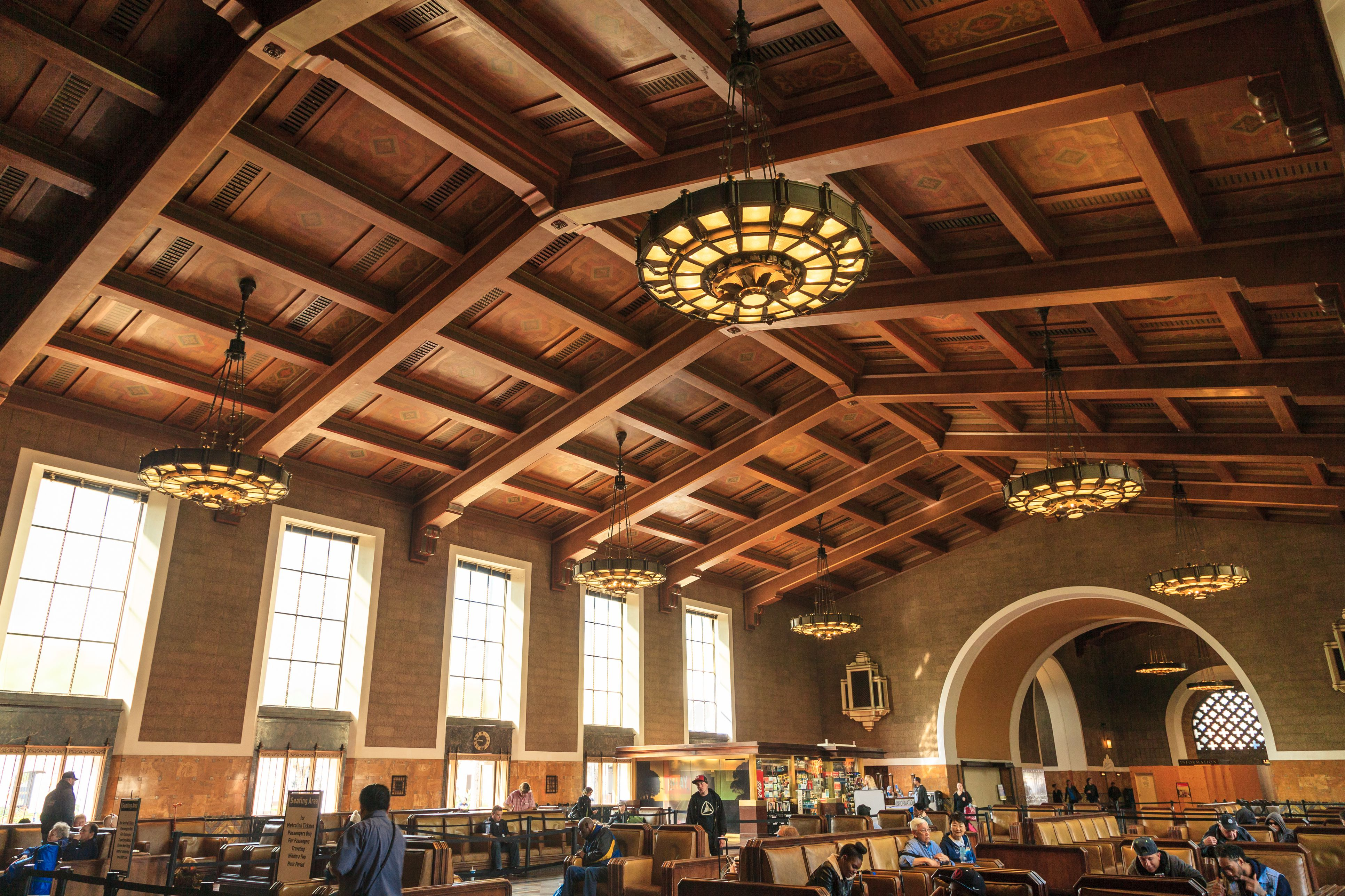 Union station hall ,Downtown Los Angeles