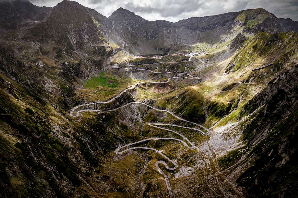 One of the most beautiful highways in the world. Transfagarasan, Romania