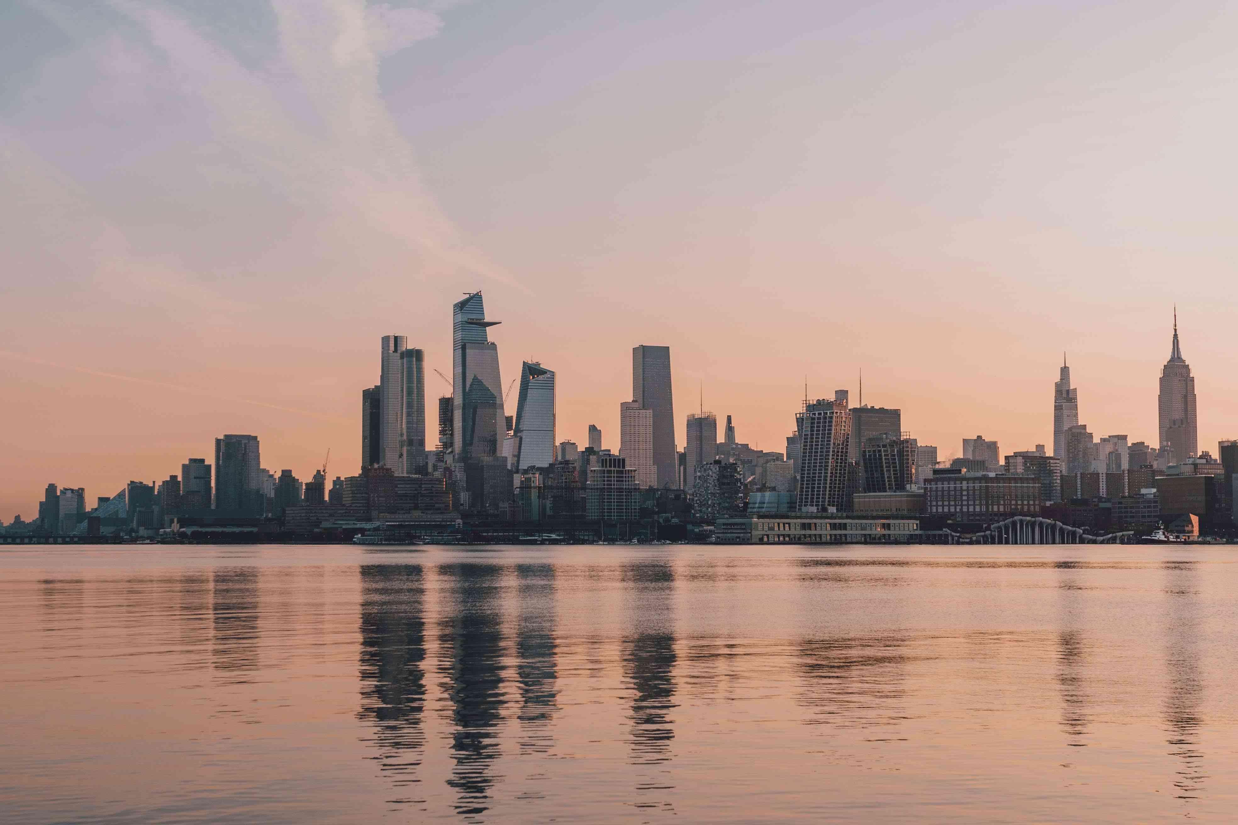 Views of NYC skyline from Hoboken
