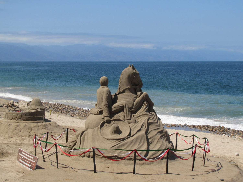 Sand sculpture in Puerto Vallarta