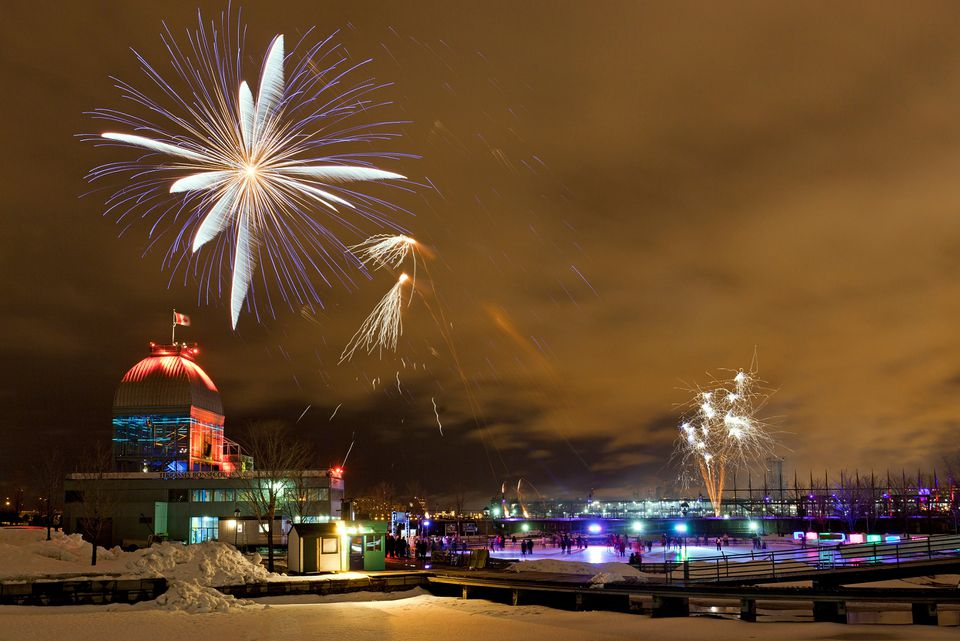 Montreal New Year's Eve 2015-2016 events include fireworks in the Old Port.
