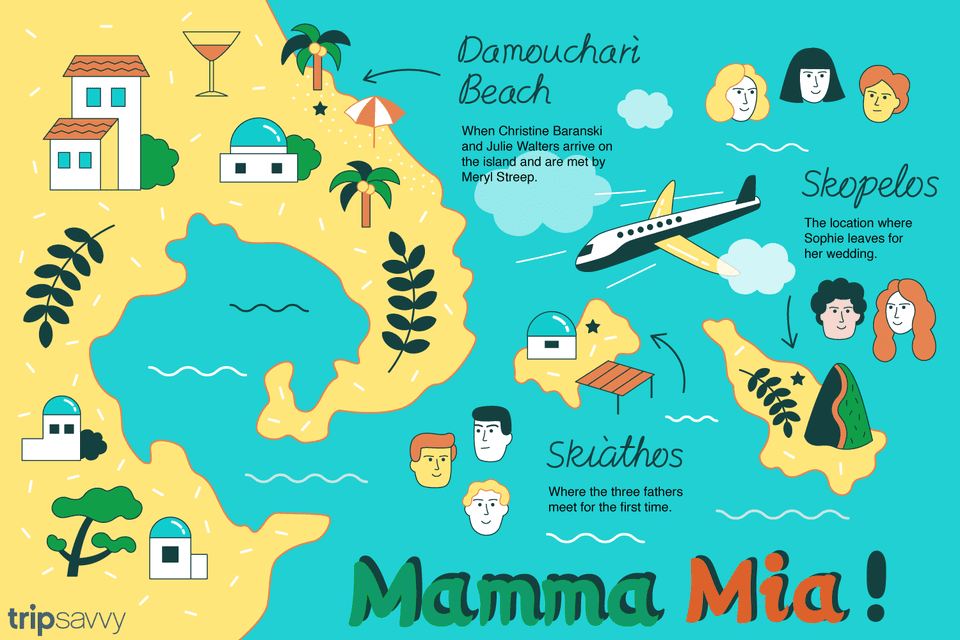 Map of Mamma Mia island
