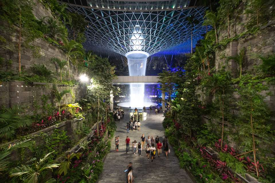 Shiseido Forest Valley & HSBC Rain Vortex, Jewel Changi Airport
