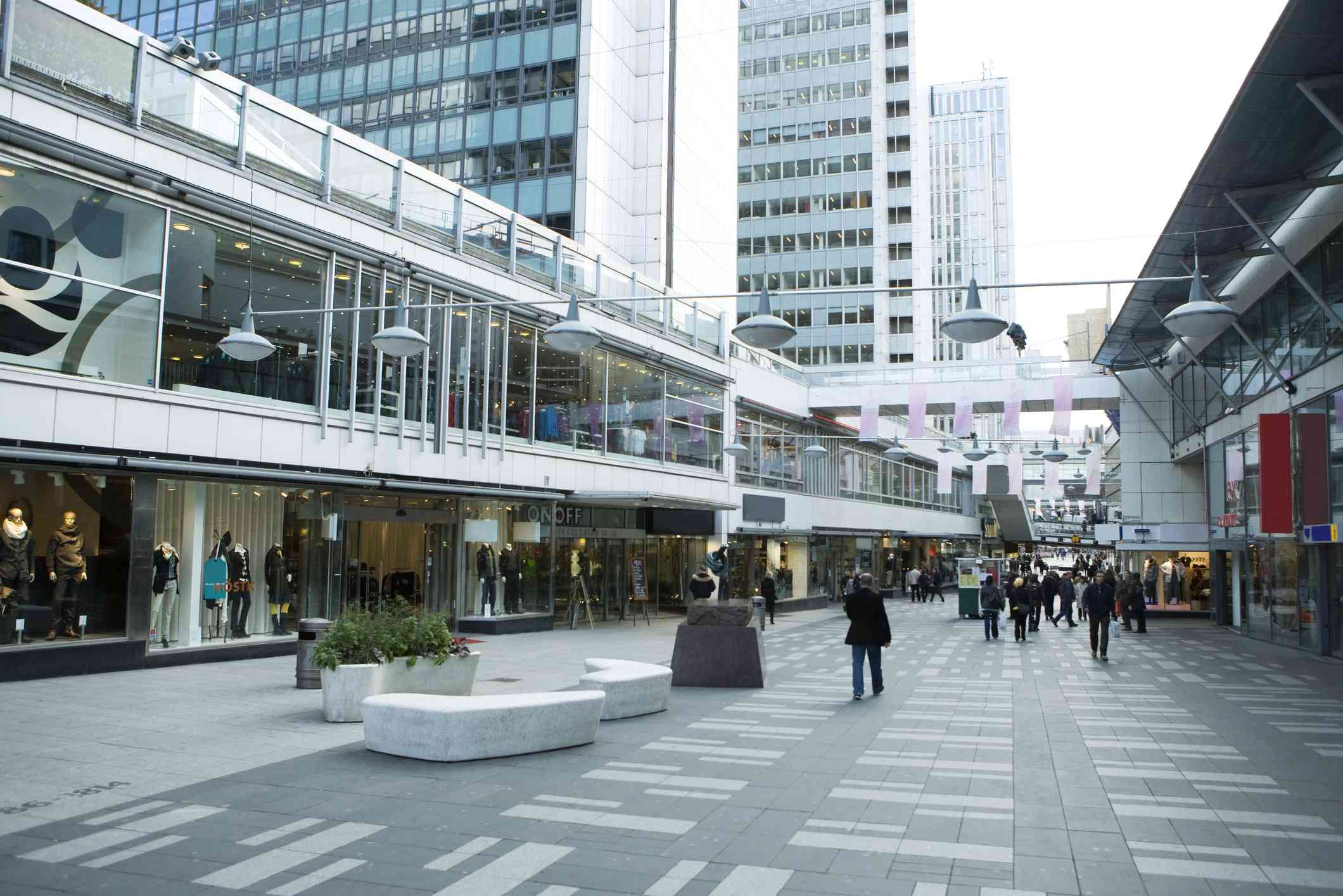 Upscale outdoor mall in Stockholm