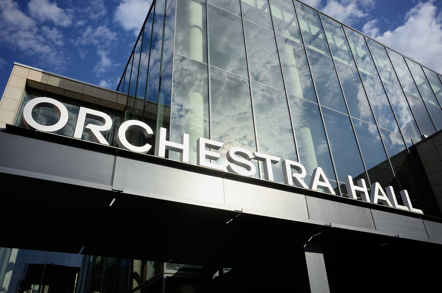 Minneapolis Orchestra Hall sign