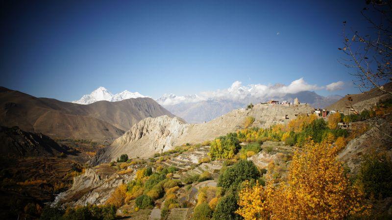 paisaje del circuito de Annapurna
