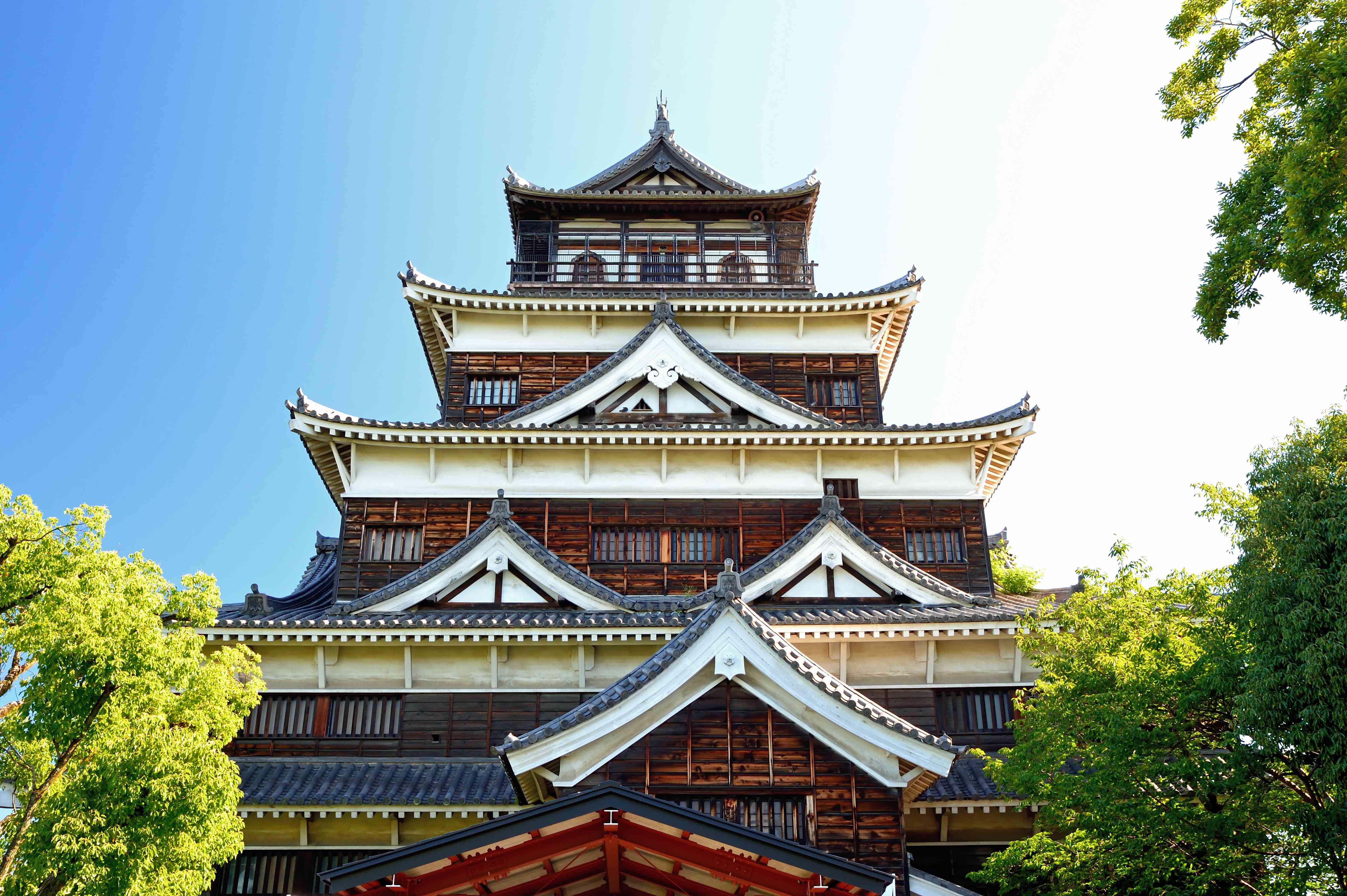 Hiroshima castle tower in Japan