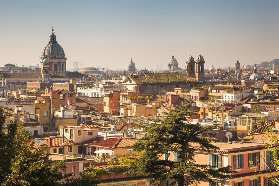 View of Rome over the rooftops