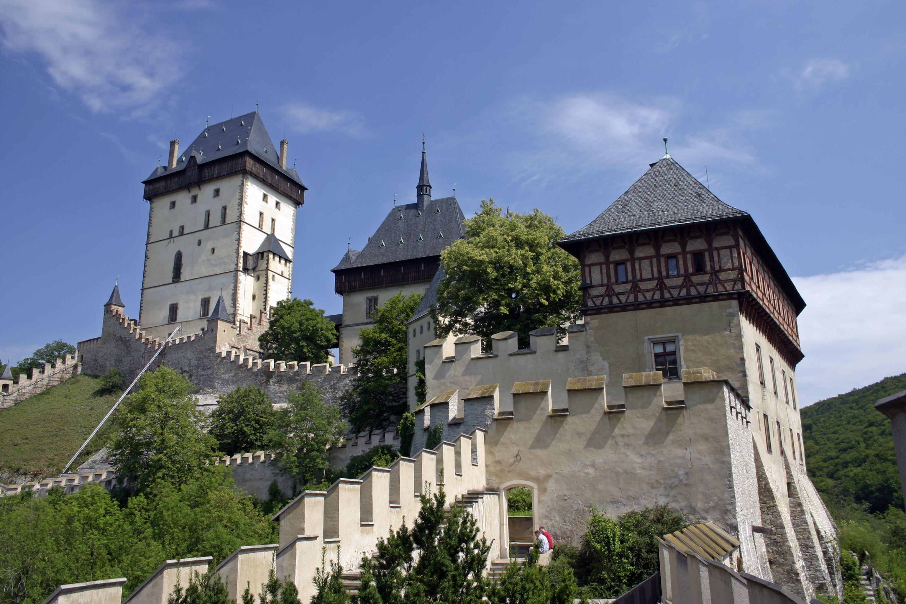 Castillo Karlstejn de la República Checa