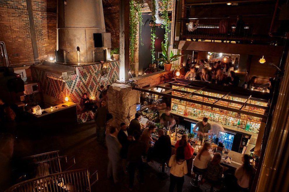 Old Glory Bar at night.