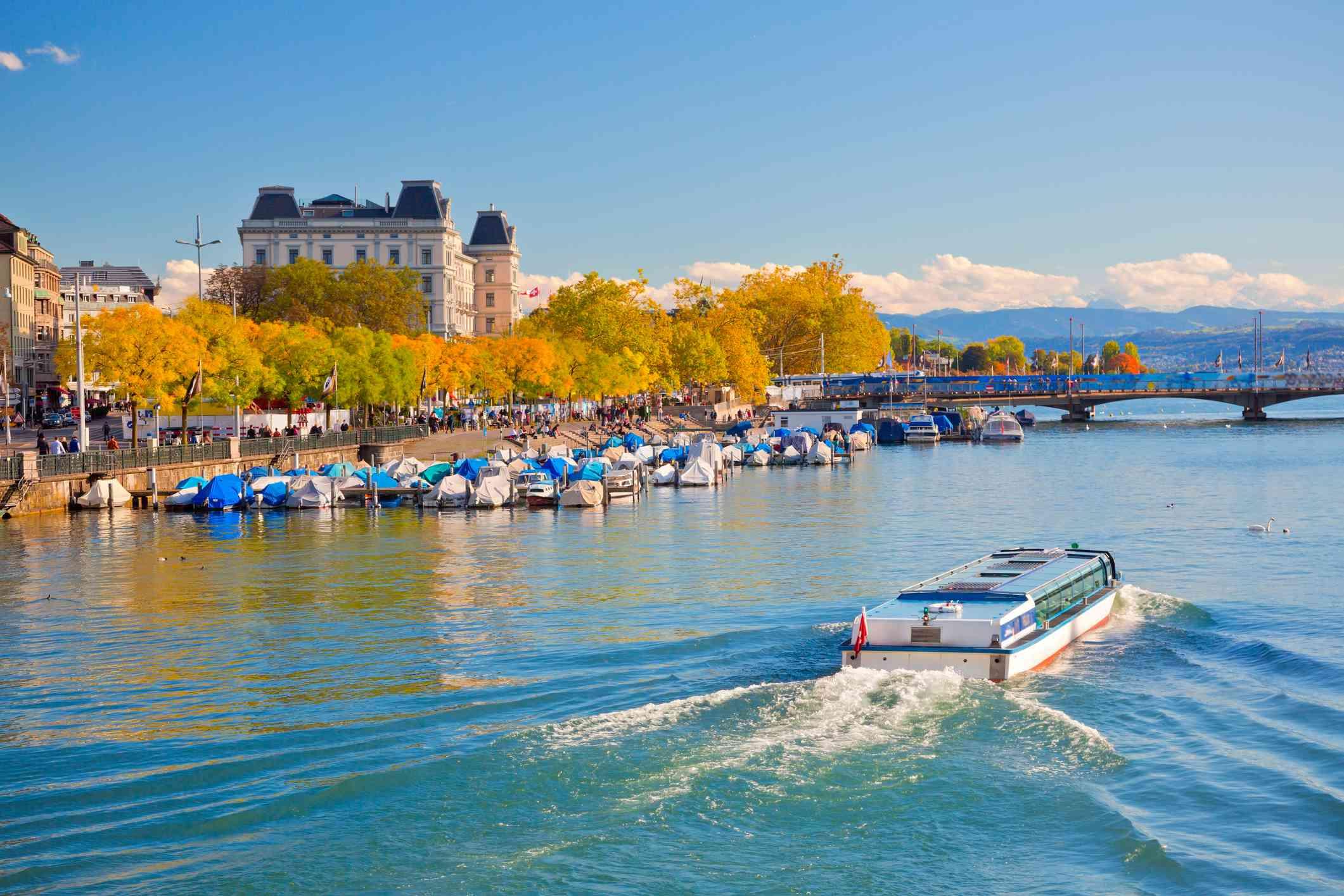 Lake Zurich in autumn, Switzerland
