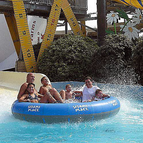 Waterslide at Sesame Place