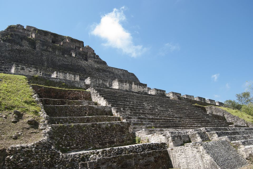 El Castillo at Xunantunich Mayan Ruins in Belize