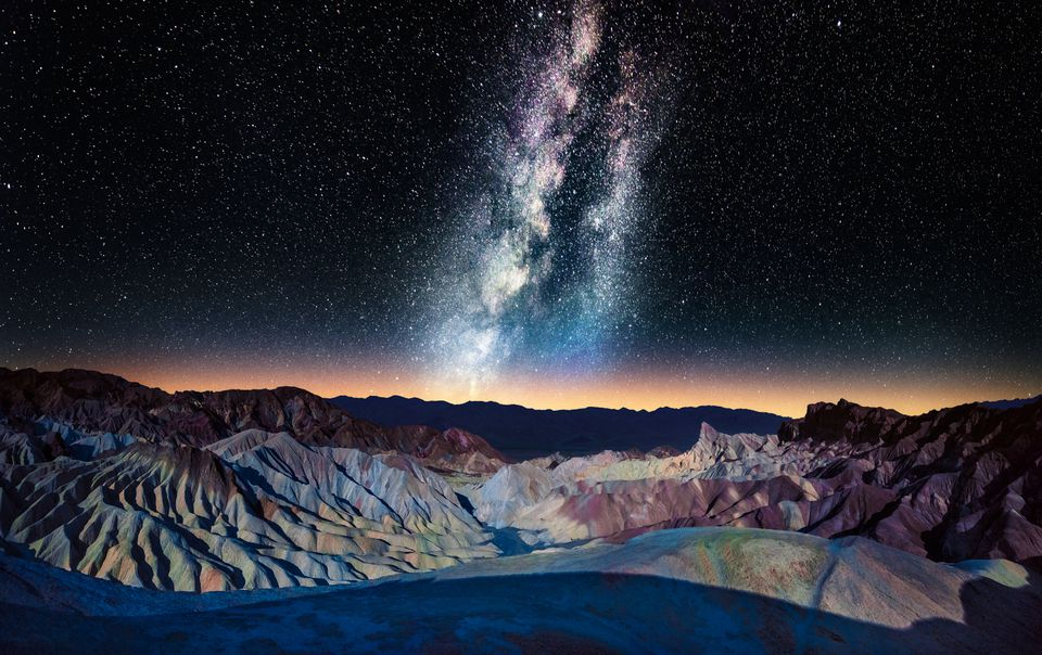 The Milky Way over Zabriskie Point, Death Valley