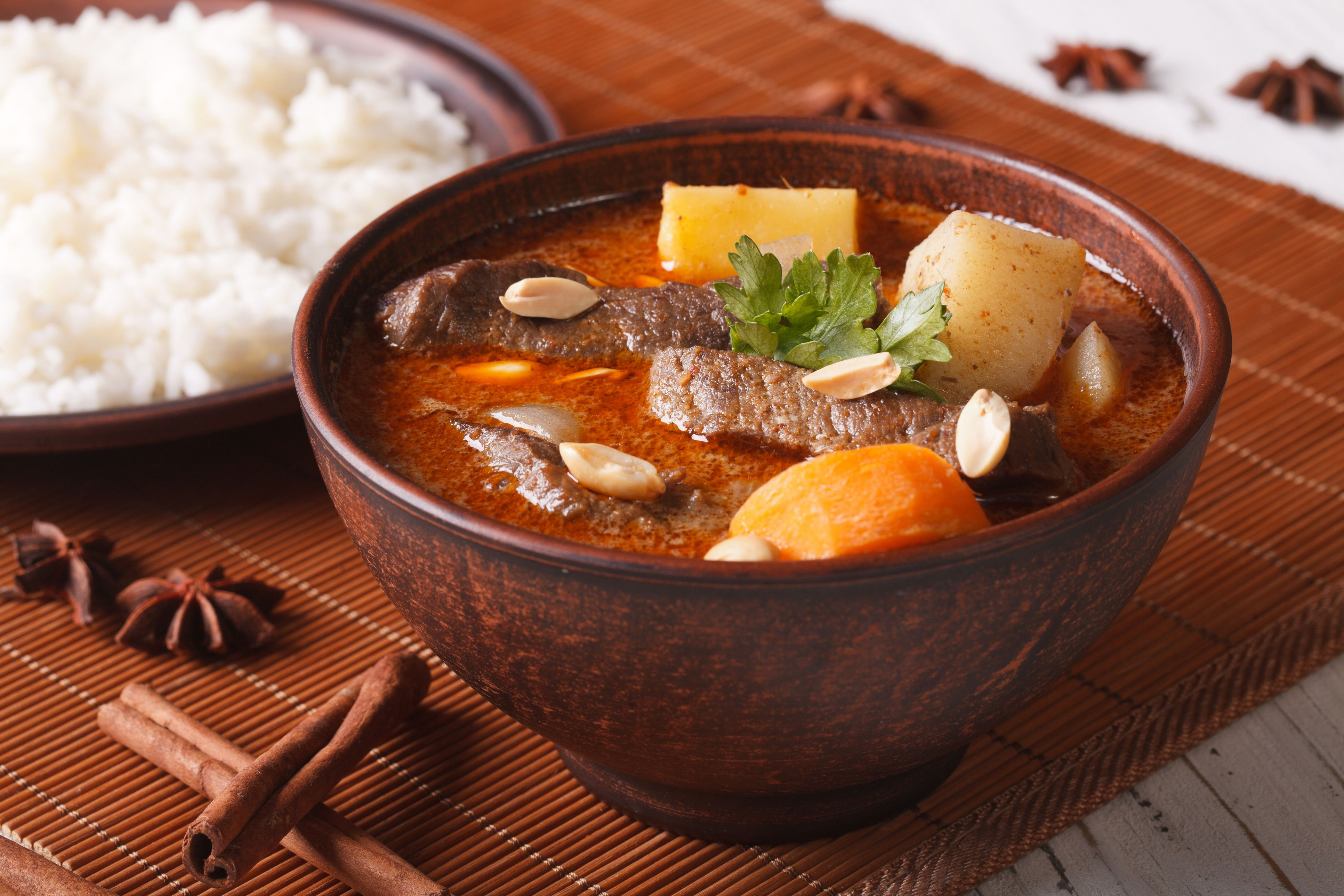 Thai beef massaman curry with peanuts