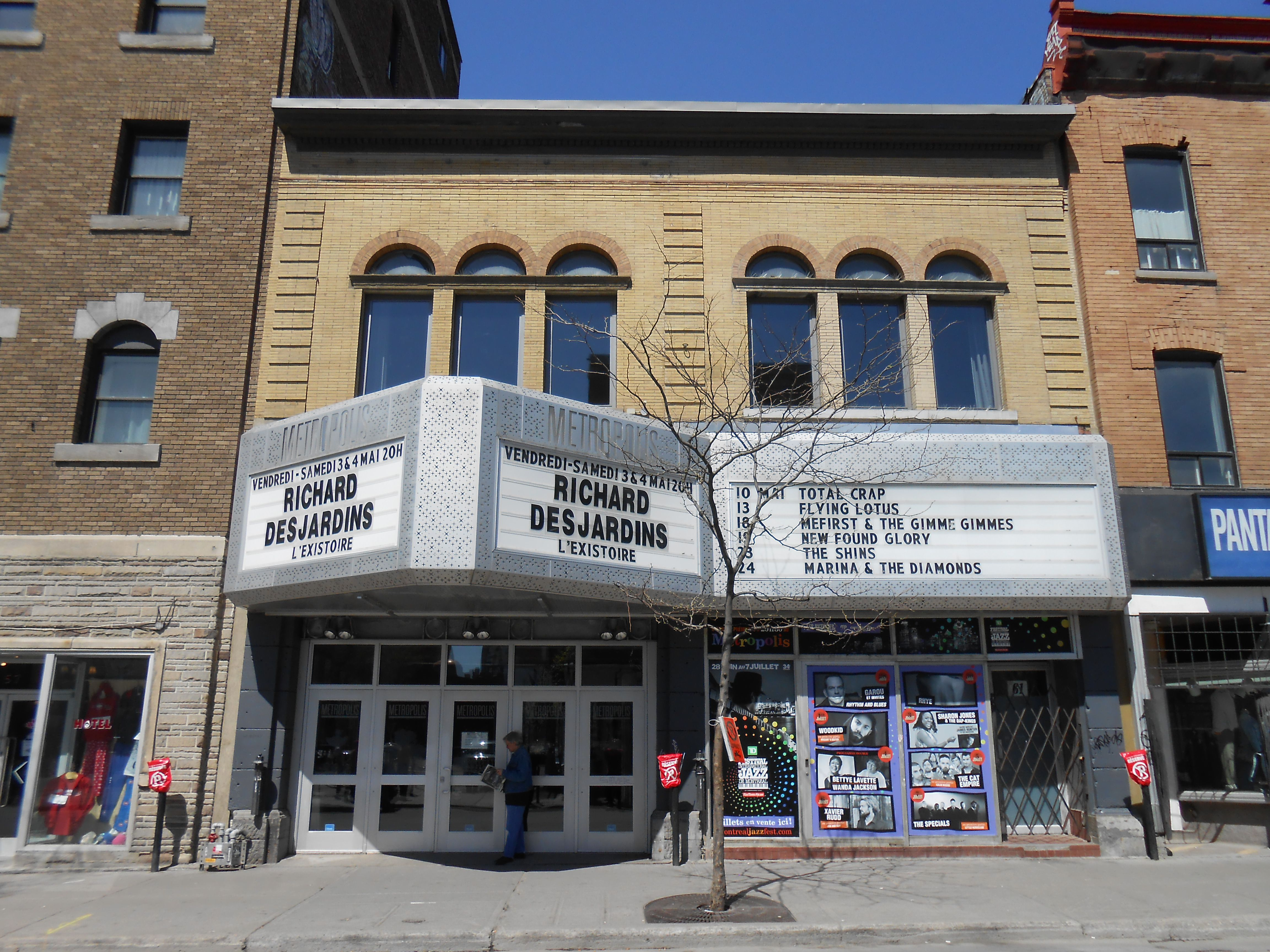 Exterior of MTELUS, montreal, Canada