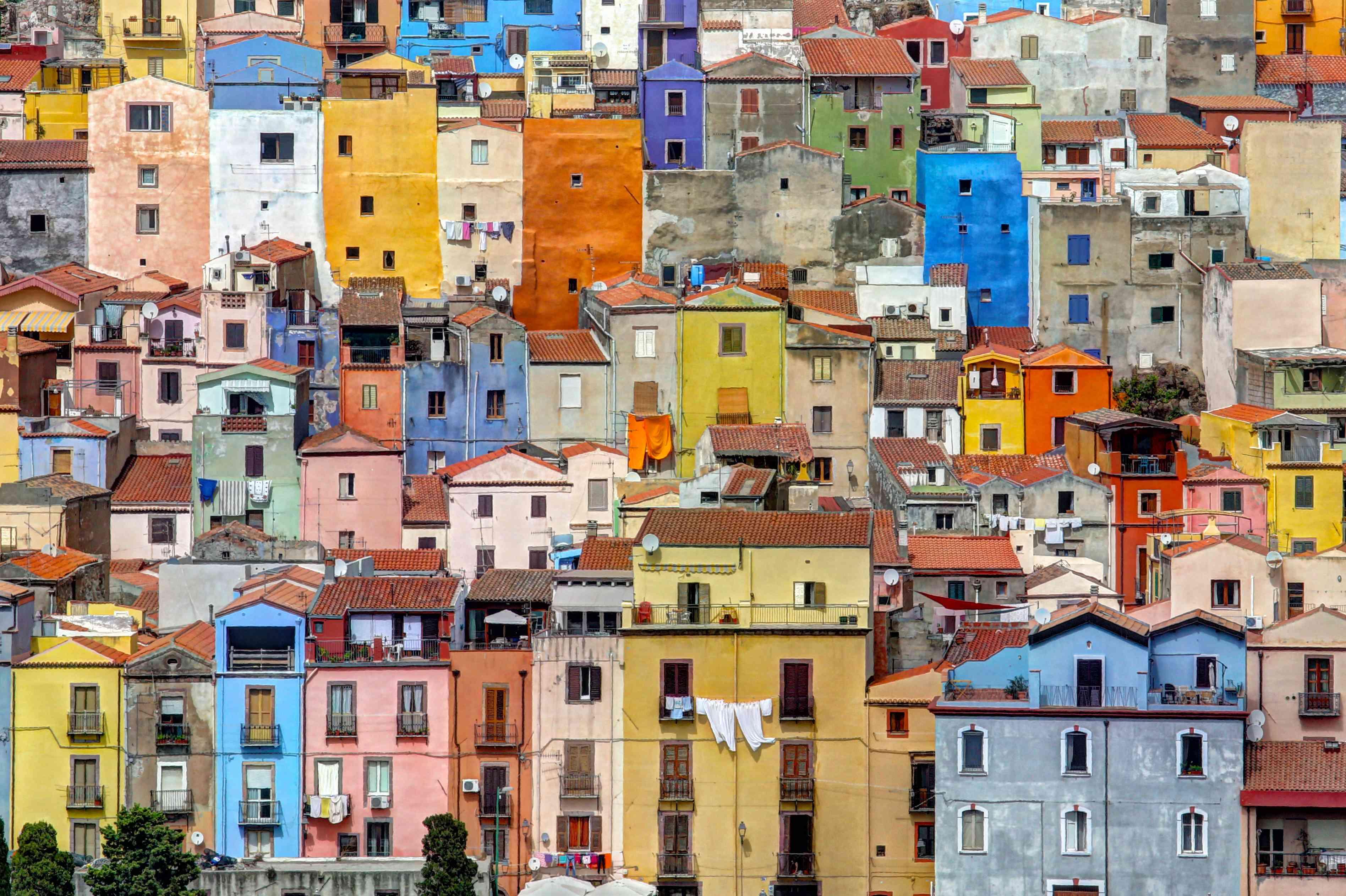 Colored houses of Bosa, Sardinia