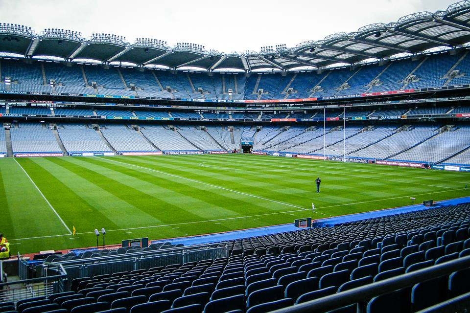 Croke Park before the big match - kind of empty